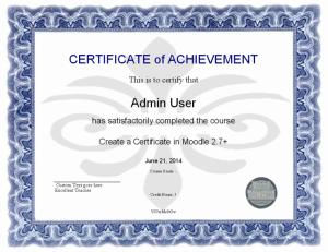 Moodle Plugin Certificate Example