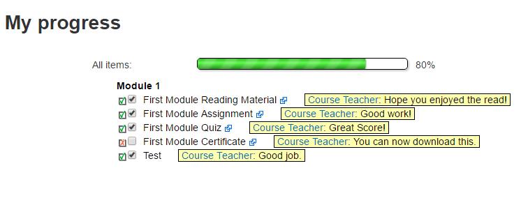 Moodle Plugin Checklist Module Student Progress