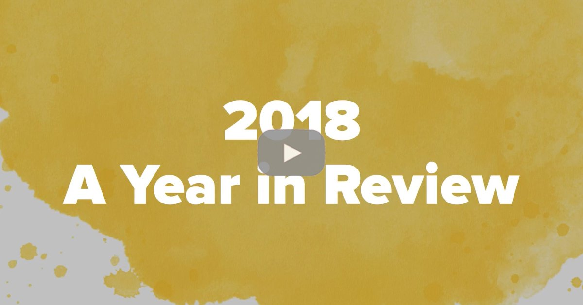 2018 - A Year in Review Thumbnail